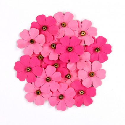 Paper flower set - Beaded Mini Daisies Strawberry Fields