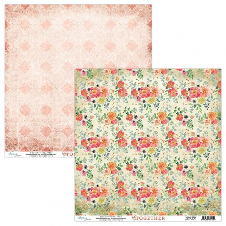 Papier  kwiatowy - Papier do scrapbookingu - Mintay-Together -01