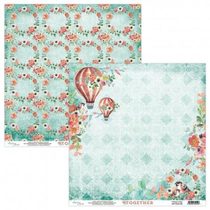 Papier kwiatowy - Papier do scrapbookingu - Mintay-Together -02