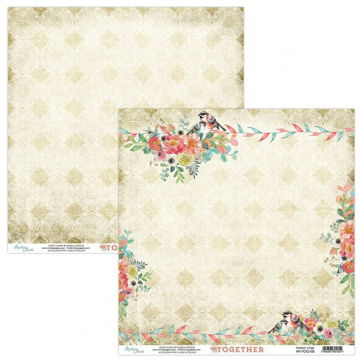 Scrapbooking paper - Mintay -Together - 03