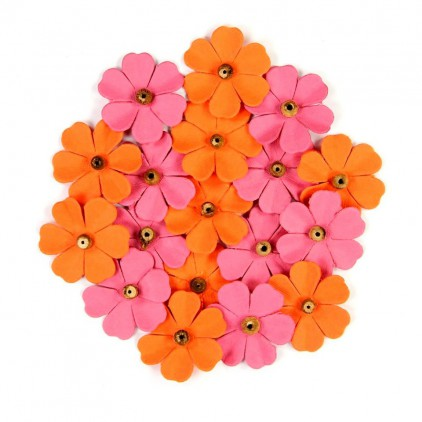 Paper flower set - Beaded Fancies Scarlet Blush