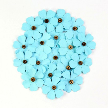 Paper flower set - Beaded Fancies Blue