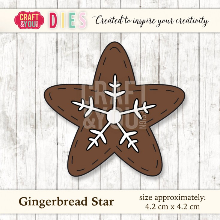 Craft and You Design Die - Gingerbread Star