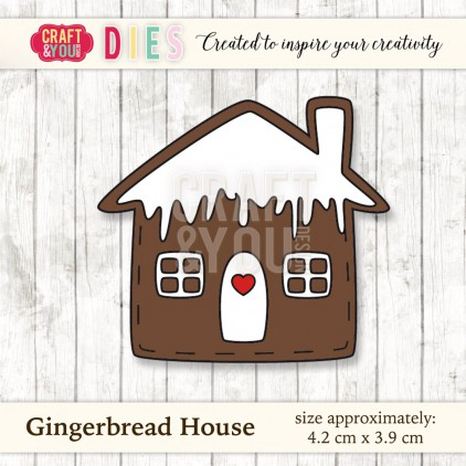 Craft and You Design Die - Gingerbread House