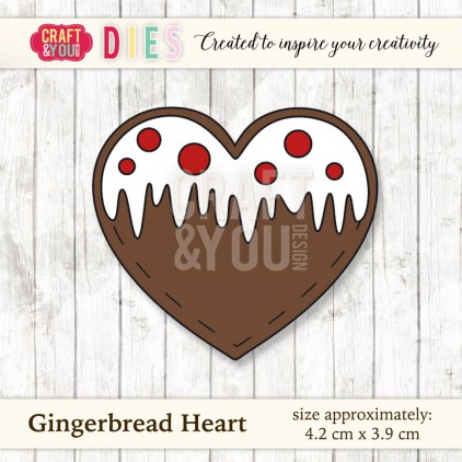 Craft and You Design Die - Gingerbread Heart
