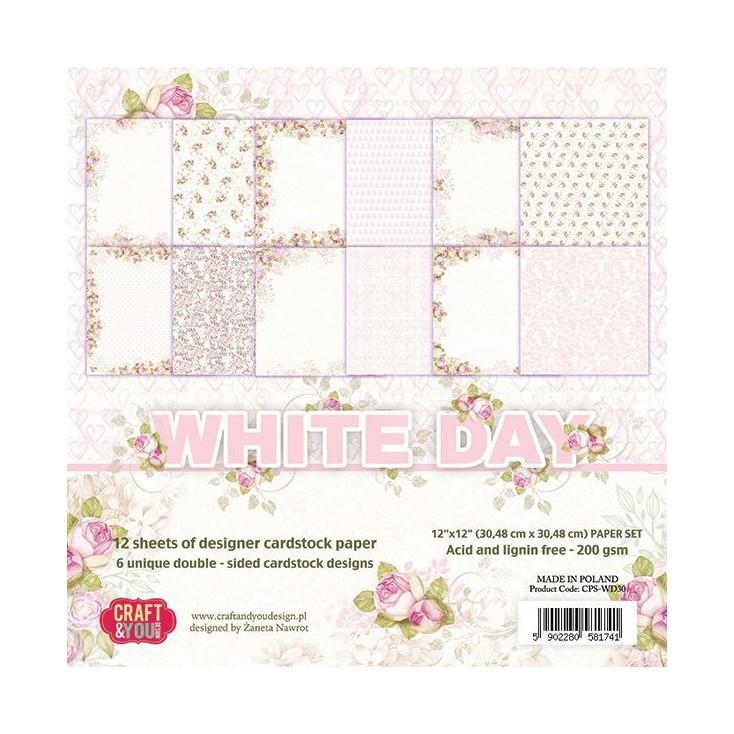 Zestaw papierów do scrapbookingu - Craft and You Design - White Day