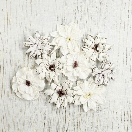 Paper flower set - Wild Blossoms White