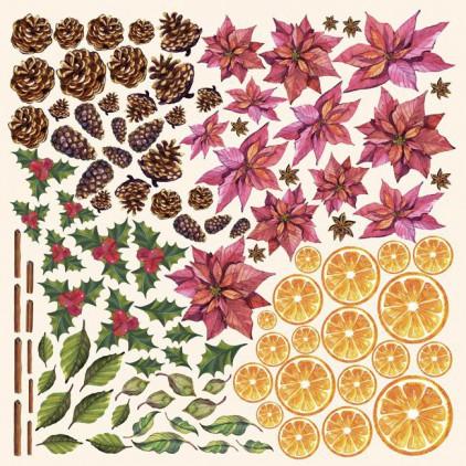 Papier do tworzenia kartek i scrapbookingu - Fabrika Decoru - Botany Winter - Obrazki do wycinania