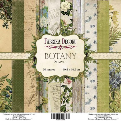 Set of scrapbooking papers - Fabrika Decoru - Botany Summer