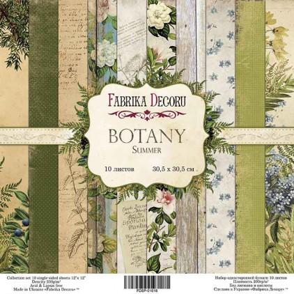 Zestaw papierów do tworzenia kartek i scrapbookingu  - Fabrika Decoru - Botany Summer