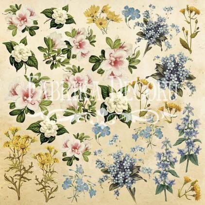 Papier do tworzenia kartek i scrapbookingu - Fabrika Decoru - Botany Summer - Obrazki do wycinania