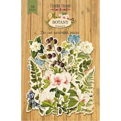 Zestaw papierowych kształtów - Fabrika Decoru - Botany Summer - 59 częśći