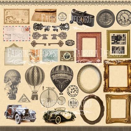 Papier do tworzenia kartek i scrapbookingu - Fabrika Decoru - Shabby Memory - Obrazki do wycinania
