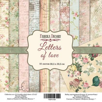 Zestaw papierów do tworzenia kartek i scrapbookingu - Fabrika Decoru - Letters Of Love