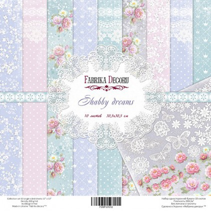 Set of scrapbooking papers - Shabby Dreams