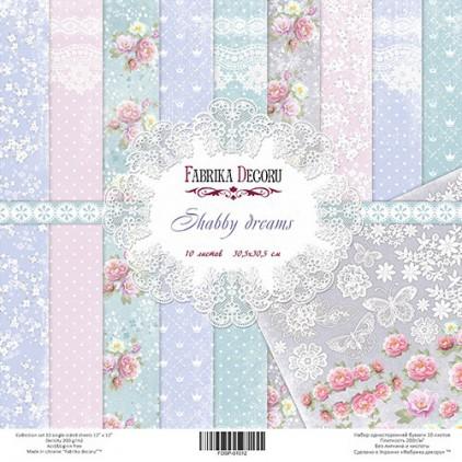 Zestaw papierów do tworzenia kartek i scrapbookingu - Fabrika Decoru - Shabby Dreams