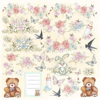 Scrapbooking paper - Fabrika Decoru - Baby Shabby 01 - Pictures for cutting