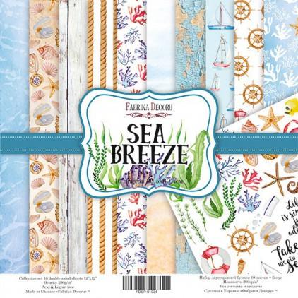 Zestaw papierów do tworzenia kartek i scrapbookingu  - Fabrika Decoru - Sea Breeze