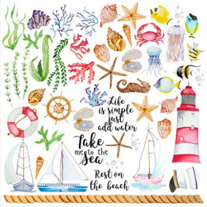 Scrapbooking paper - Fabrika Decoru - Sea Breeze - Pictures for cutting
