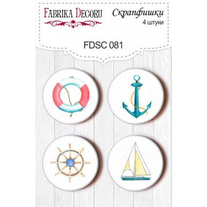 Selfadhesive buttons/badge - Fabrika Decoru - Sea Breeze 01