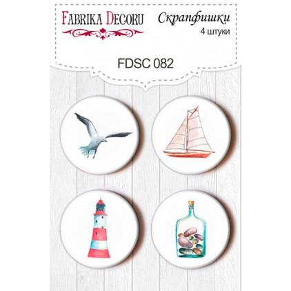 Selfadhesive buttons/badge - Fabrika Decoru - Sea Breeze 02