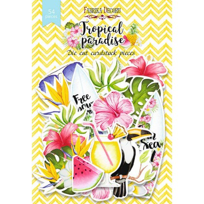 Set of die cuts - Fabrika Decoru - Tropical Paradise - 54pcs
