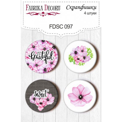 Selfadhesive buttons/badge - Fabrika Decoru - Especially for Her 097