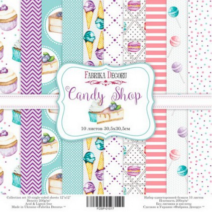 Set of scrapbooking papers - Fabrika Decoru - Candy Shop