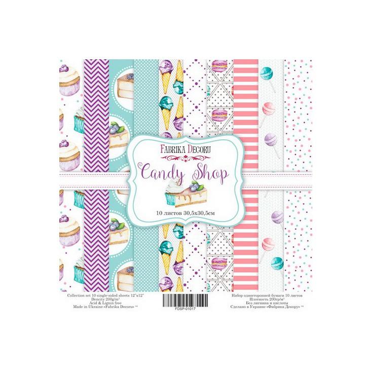 Zestaw papierów do tworzenia kartek i scrapbookingu - Fabrika Decoru - Candy Shop