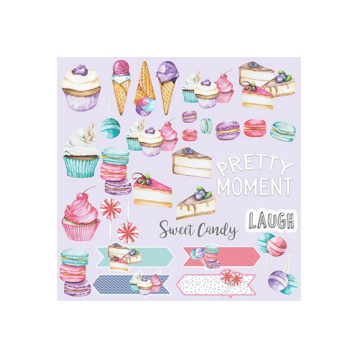 Papier do tworzenia kartek i scrapbookingu - Fabrika Decoru - Candy Shop - Obrazki do wycinania