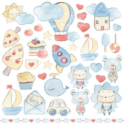 Scrapbooking paper - Fabrika Decoru - Sweet Baby Boy - Pictures for cutting