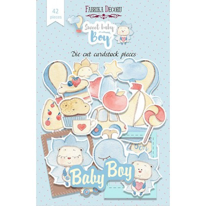 Set of die cuts - Fabrika Decoru - Sweet Baby Boy - 42pcs