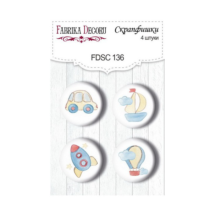SSelfadhesive buttons/badge - Fabrika Decoru - Sweet Baby Boy 02