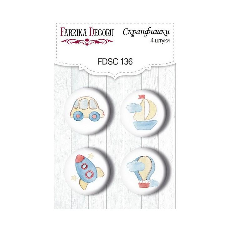 SSelfadhesive buttons/badge - Fabrika Decoru - Sweet Baby Boy 02
