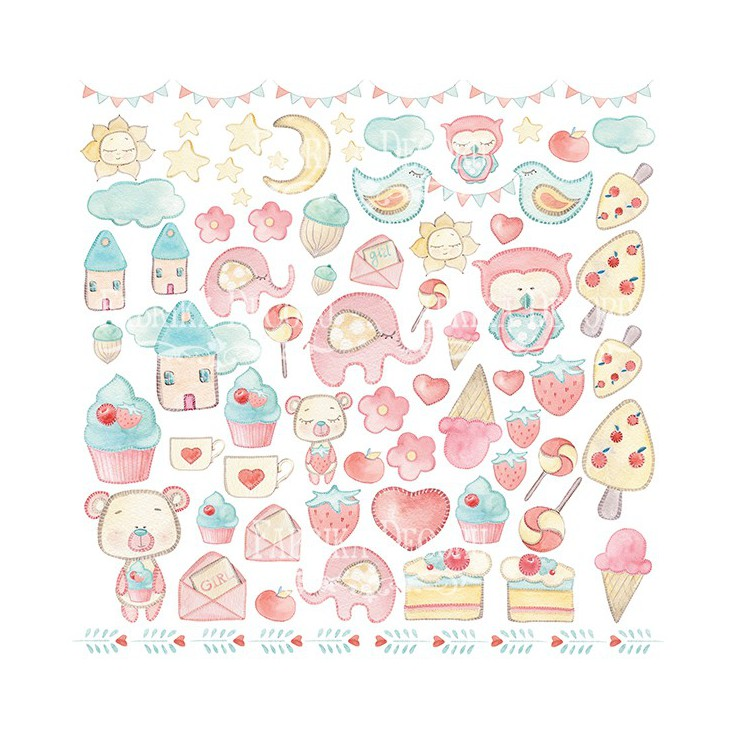 Scrapbooking paper - Fabrika Decoru - Sweet Baby Girl - Pictures for cutting