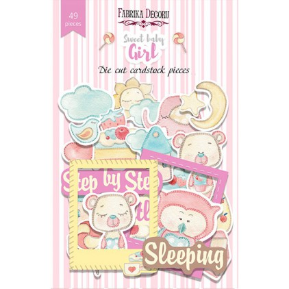 Scrapbooking - Set of die cuts - Fabrika Decoru - Sweet Baby Girls- 49pcs