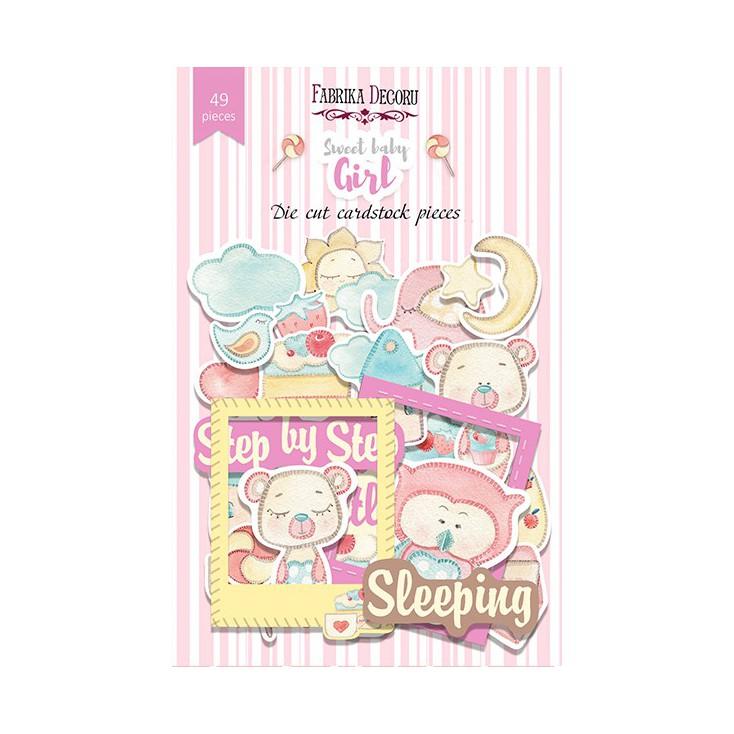 Scrapbooking - Set of die cuts - Fabrika Decoru - Sweet Baby Girls- 49pcs