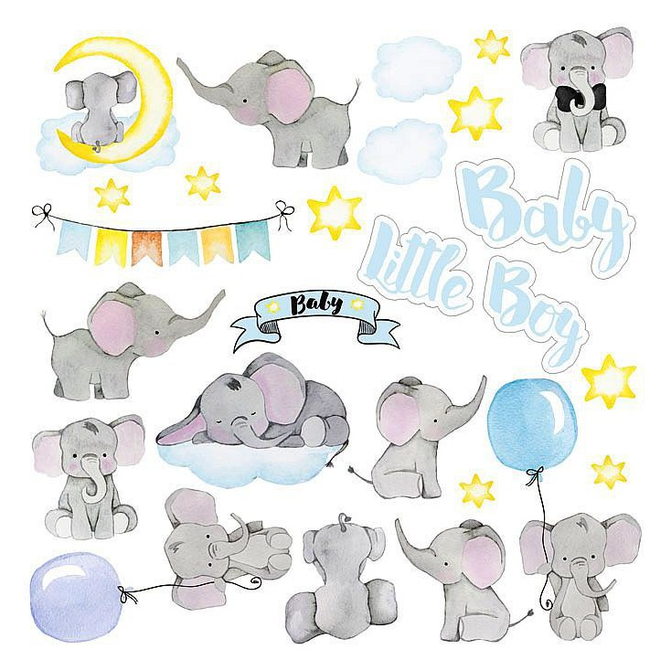 Scrapbooking paper - Fabrika Decoru - My Little Baby Boy - Pictures for cutting