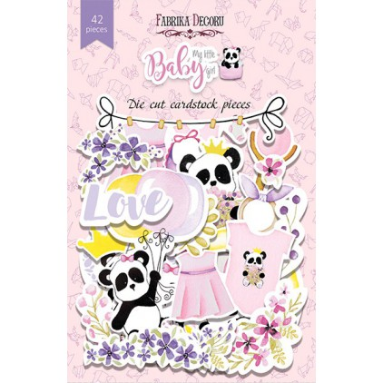 Set of die cuts - Fabrika Decoru - My Little Baby Girl - 42pcs