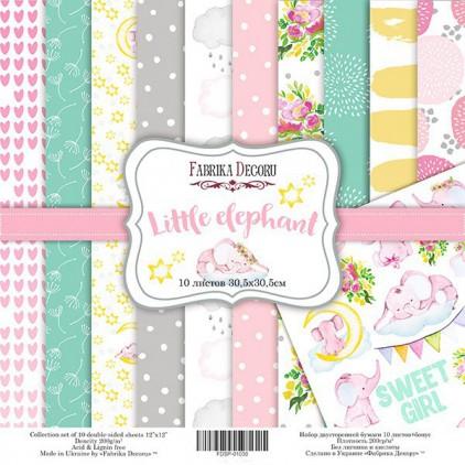 Set of scrapbooking papers - Fabrika Decoru - Little elephant