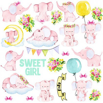 Scrapbooking paper - Fabrika Decoru - Little elephant - Pictures for cutting