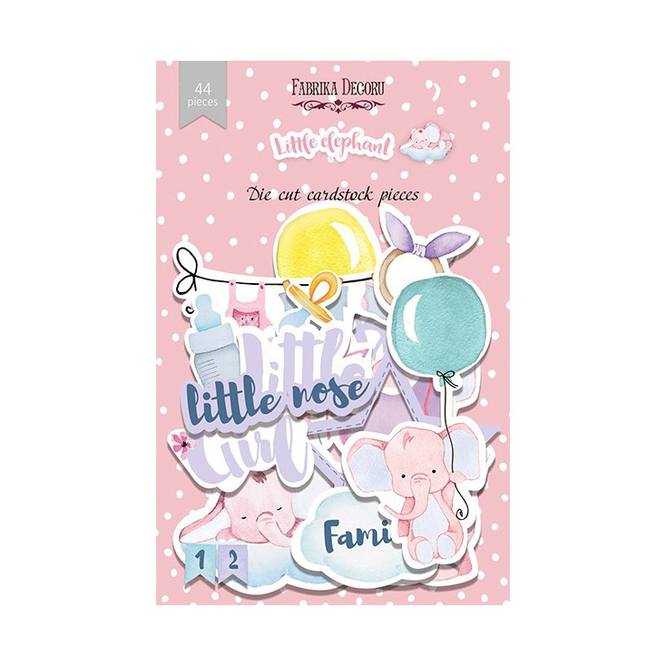 Set of die cuts - Fabrika Decoru - Little elephant - 44pcs