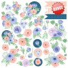 Set of scrapbooking papers - Fabrika Decoru - Flower mood