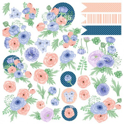 Papier do tworzenia kartek i scrapbookingu - Fabrika Decoru - Flower mood - Obrazki do wycinania