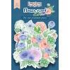 Zestaw papierowych kształtów - Fabrika Decoru - Flower mood - 63 części