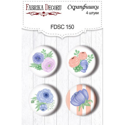 Selfadhesive buttons/badge - Fabrika Decoru - Flower mood 150