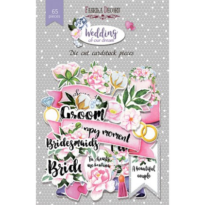 Set of die cuts - Fabrika Decoru - Wedding of our dreams - 65pcs