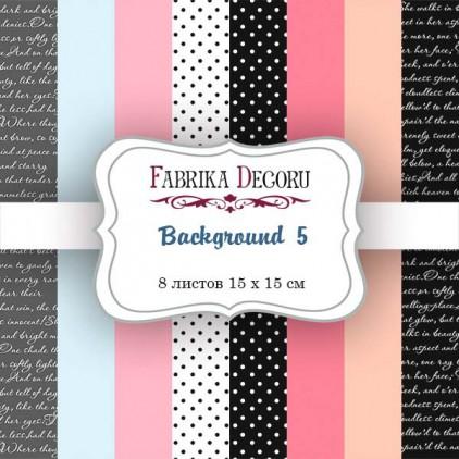 Pad of scrapbooking papers - Fabrika Decoru - Sensual love Background 5