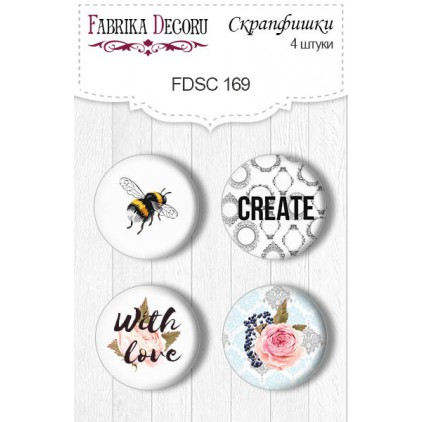 Selfadhesive buttons/badge - Fabrika Decoru - Sensual Love 03