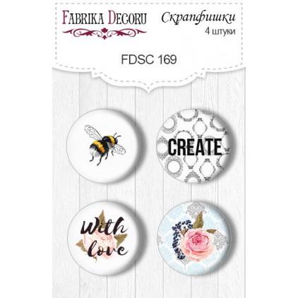 Selfadhesive buttons/badge - Fabrika Decoru - Sensual Love